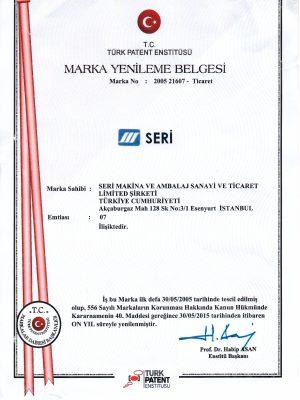 Marka Tescil.seri makina (30.05.2025)